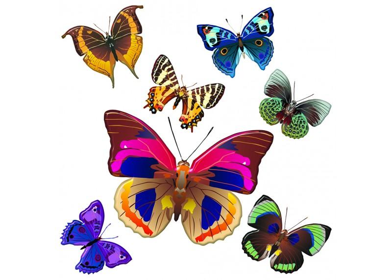Samolepka na zeď,  AG Design, SS 3854, Motýly, 30x30 cm