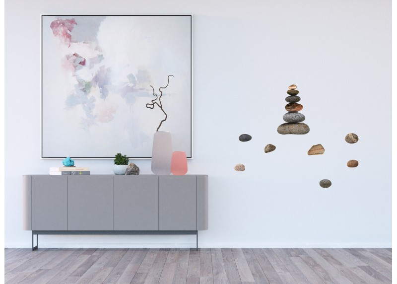Samolepka na zeď, AG Design, SS 3855, Kameny, 30x30 cm