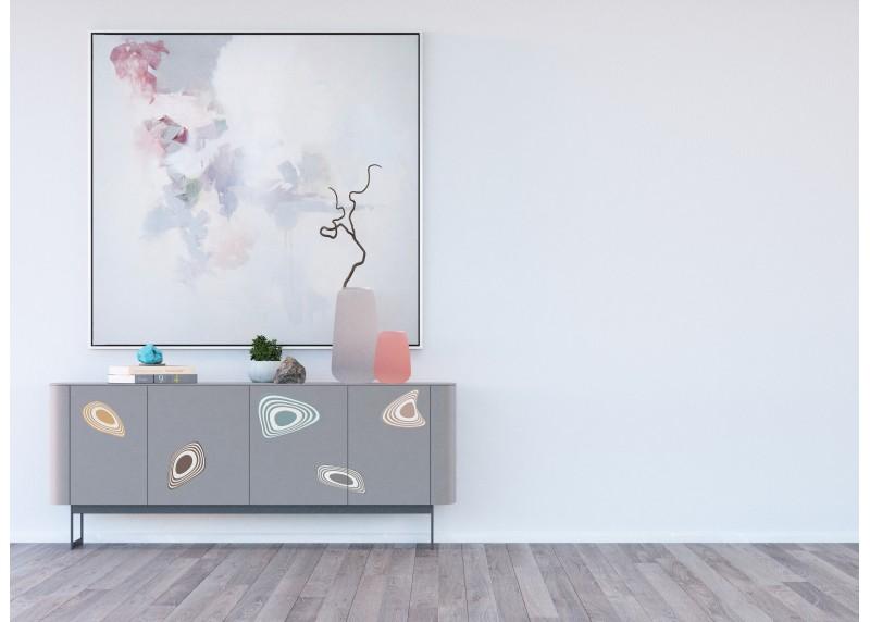 Samolepka na zeď,  AG Design, SS 3857, Abstraktní barvy, 30x30 cm