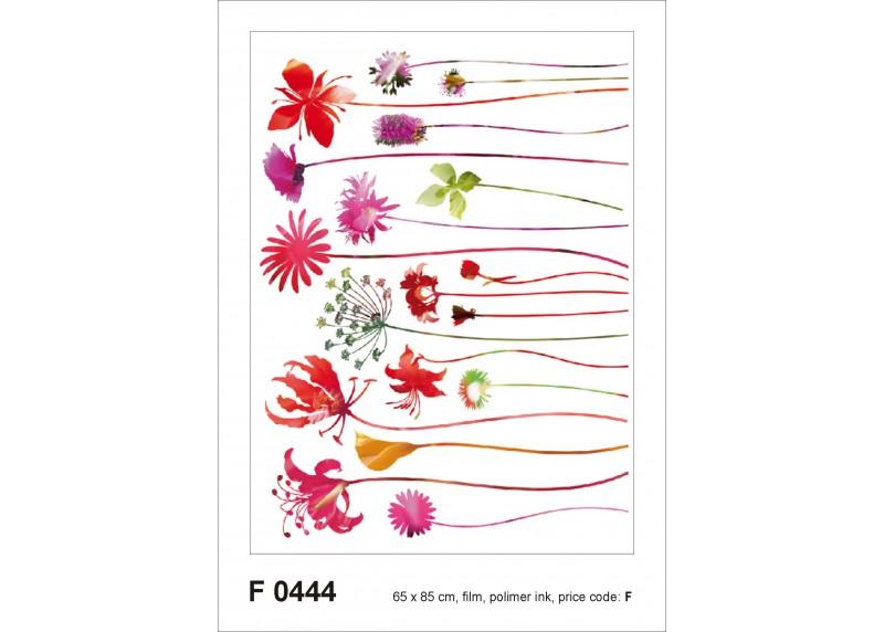 Samolepka na zeď,  AG Design, F 0444, Květiny s dlouhými stonky, 65x85 cm