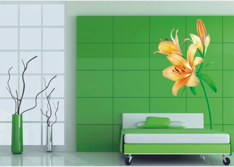 Samolepka na zeď,  AG Design, F 0450, Oranžové lilie, 65x85 cm