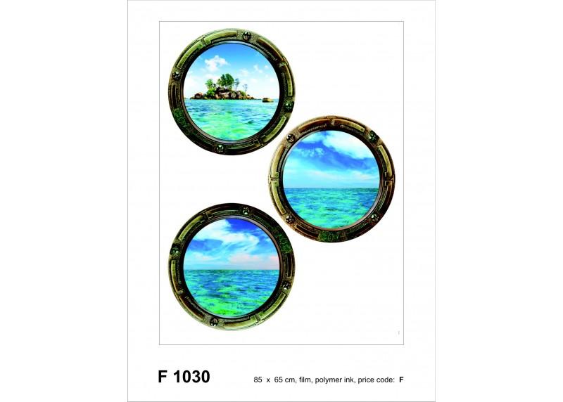 Samolepka na zeď,  AG Design, F 1030, Pohled na ostrov a moře, 65x85 cm