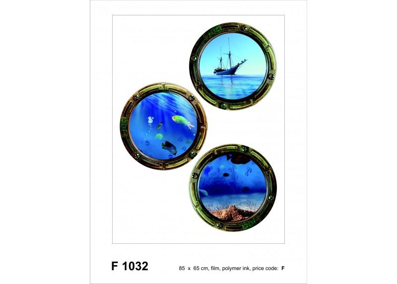 Samolepka na zeď,  AG Design, F 1032, Pohled na moře, 65x85 cm