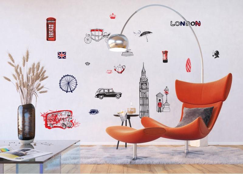 Samolepka na zeď,  AG Design, F 1038, Londýn, 65x85 cm