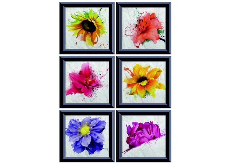 Samolepka na zeď,  AG Design, F 1059, Kolekce obrazů s květinami, 65x85 cm