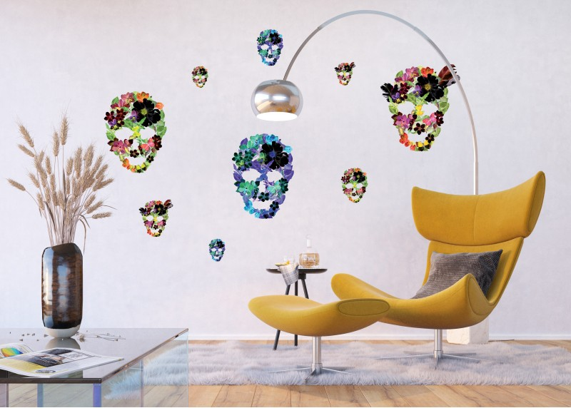 Samolepka na zeď,  AG Design, F 1060, Masky z okvětních lístků, 65x85 cm