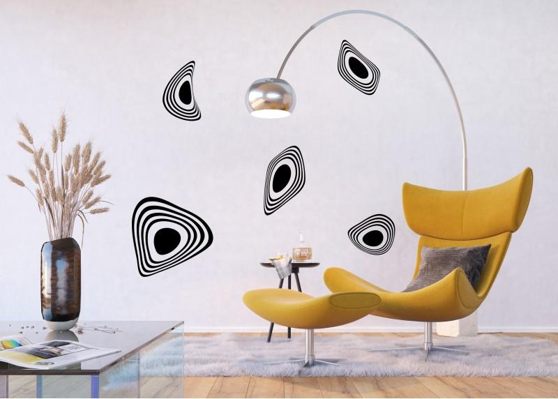 Samolepka na zeď,  AG Design, FL 0462, Moderní abstrakce, 65x85 cm