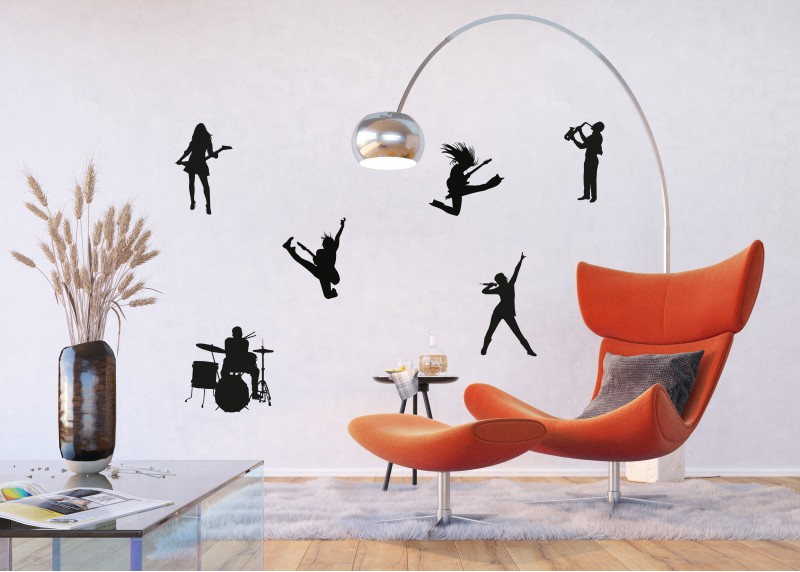 Samolepka na zeď,  AG Design, FL 1014, Rokenrol, 65x85 cm