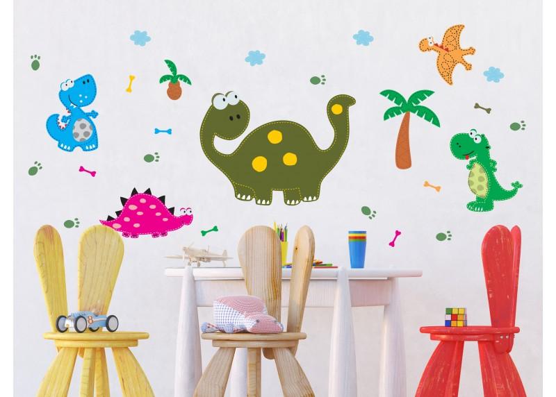 Samolepka na zeď dětská,  AG Design, K 0804, Dinosauři, 65x85 cm