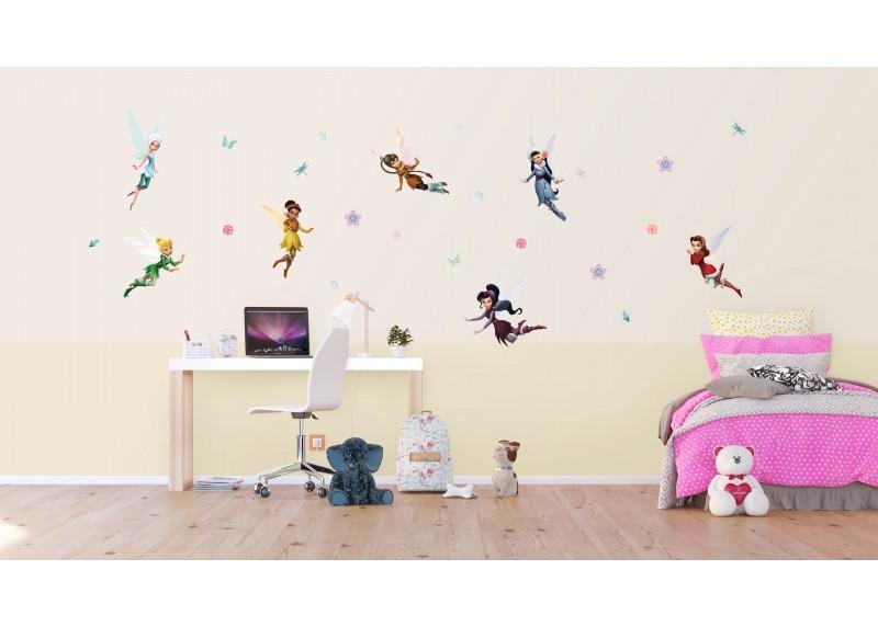 Samolepka na zeď dětská,  AG Design, DK 1707, Disney, Víly v zimních šatech, 65x85 cm