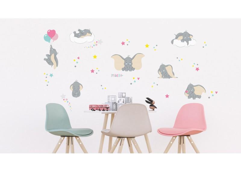 Dumbo ve hvězdách Disney, dekorační nálepky na stěny, nábytek a interiérové předměty v dětském pokoji, 30 x 30 cm, 3812 DKS