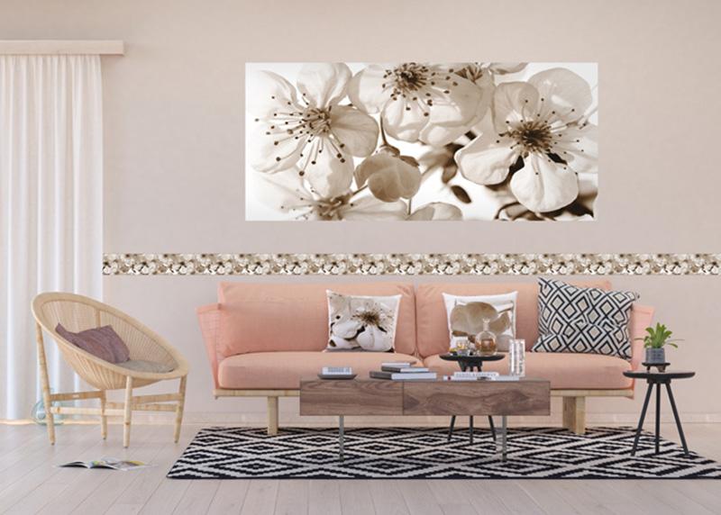 Květy jabloní, dekorativní polštář AG Design, 45 x 45 cm, do obývacího pokoje, kuchyně, ložnice či chaty, CN 3613