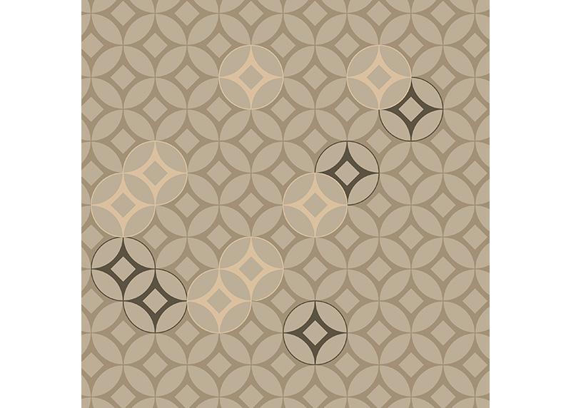 Geometrický ornament v hnědo-zlatých odstínech, dekorativní polštář AG Design, 45 x 45 cm, do obývacího pokoje, kuchyně, ložnice či chaty, CN 3629