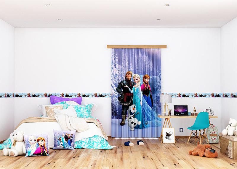 Elsa s přáteli, Disney, dekorativní polštář AG Design, 40 x 40 cm, do dětského pokoje, CND 3115