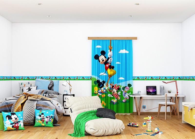 Mickey Mouse Club House, Disney, dekorativní polštář AG Design, 40 x 40 cm, do dětského pokoje, CND 3117