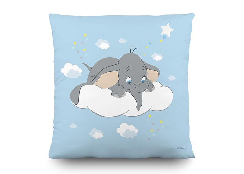 Dumbo na oblaku snů, Disney, dekorativní polštář AG Design, 40 x 40 cm, do dětského pokoje, CND 3132